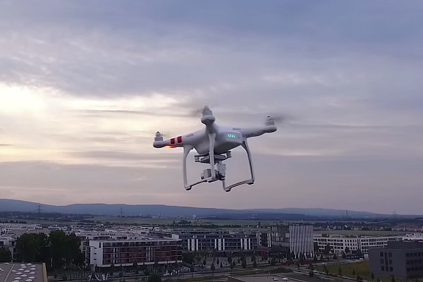 DJI Phantom Drone Flying