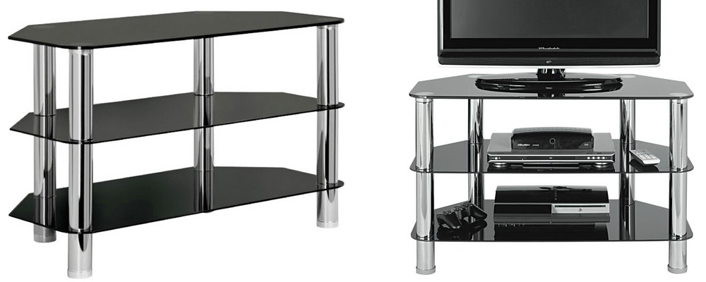 HOME Matrix Glass Corner TV Unit