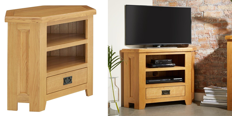 buy online 903cc e2745 Top 15 Best Corner TV Stands   Wood and Glass Designs