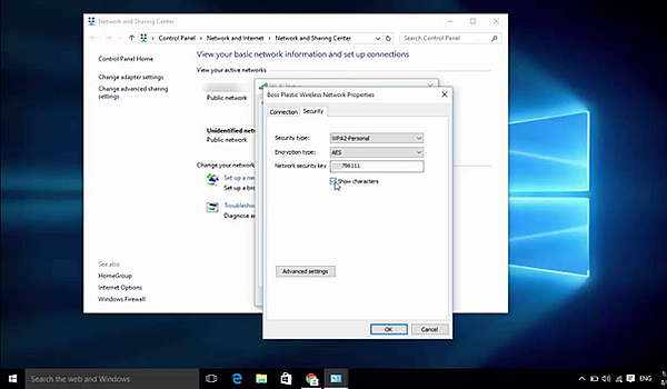 WiFi Password on Windows 10