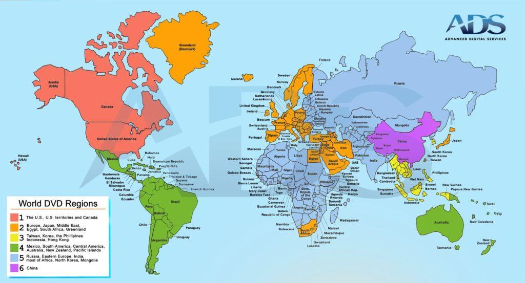 World DVD Regions