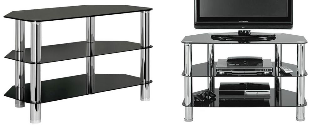 HOME Matrix Glass Corner TV Unit